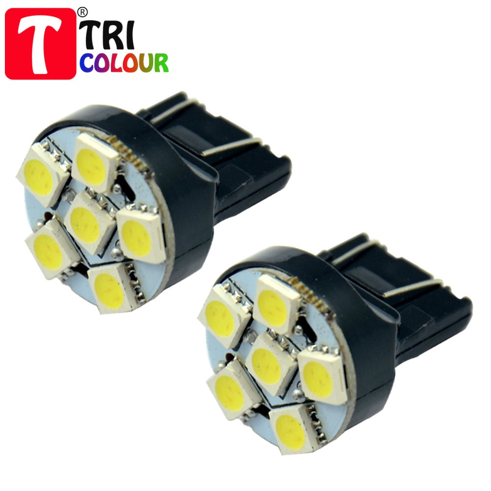 20X T20 7440 7443 6 SMD 5050 LED W21W WY21W 992 992A 7444 W21W WY21W 992 992A 7444 Turn signal Led bulb White Blue 12V #TD03-2(China (Mainland))