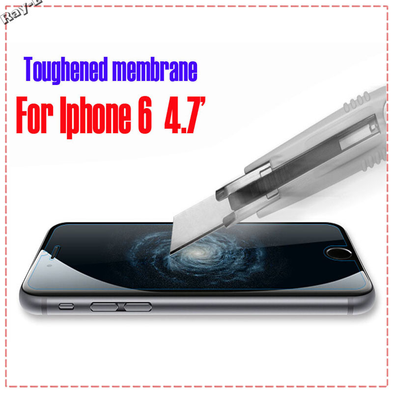 For i Phone 6 4.7' High Definition Toughened Membrane Premium Tempered Screen Protector Protective Film Guard For Apple(China (Mainland))