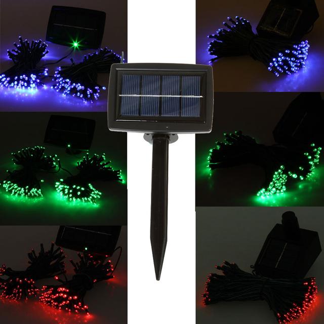 wholesale 200LED 20.5M solar christmas string light Colorful LED fairy light lot 20pcs/lot Free shipping