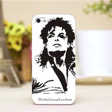 pz0006-1-1-11 Michael Jackson MJ Design cellphone transparent cover cases for 4 5 5c 5s 6 6plus Hard Shell