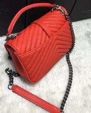 Free shipping genuine leather YsintL brand lady's handbag one shoulder messenger bag