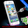 0 26 mm for iphone 5 5s Tempered Glass front clear screen protection glass film on
