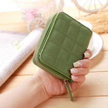 Buy Fashion Women Short Wallets PU Leather Female Plaid Purses Nubuck Card Holder Wallet Woman Small Zipper Wallet Coin Purse for $3.57 in AliExpress store