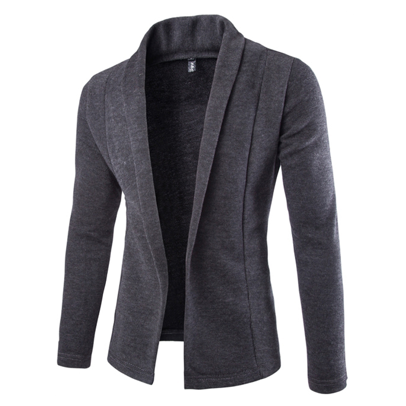 2016 British Style Knitted Sweater Men Fashion Solid Cardigan Sweaters Without Button Mens Blazer Jacket Jumpers(China (Mainland))