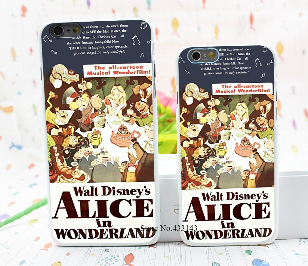 Alice Wonderland Retro Movie Poster Style Hard White Cover Skin Back Case iPhone 6 6s plus - Shenzhen ZhuoYou Technology Co.,LTD store