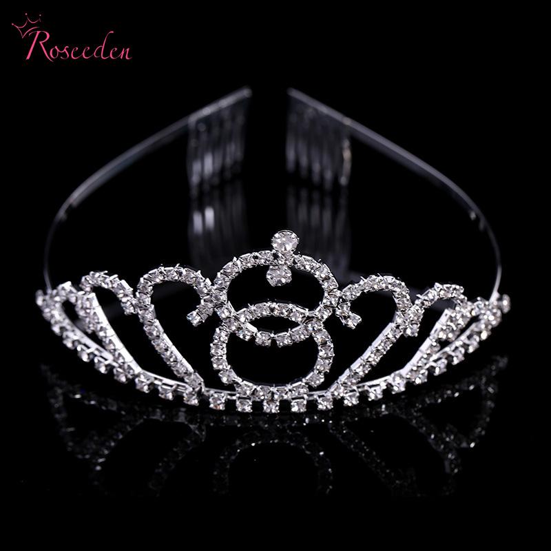 Bridal hairband Pageant Crowns Rhinestone Princess Headband Tiara de noiva Hair pins Jewelry Wedding Accessories with combsRE549(China (Mainland))