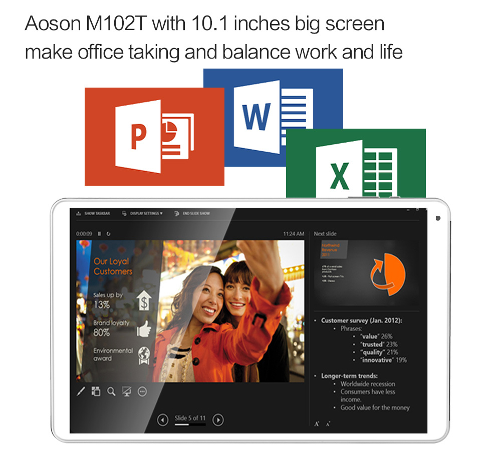 On Promotion Aoson M102T 10 1 3G Tablet PC With Phone Call Function Android 4 4