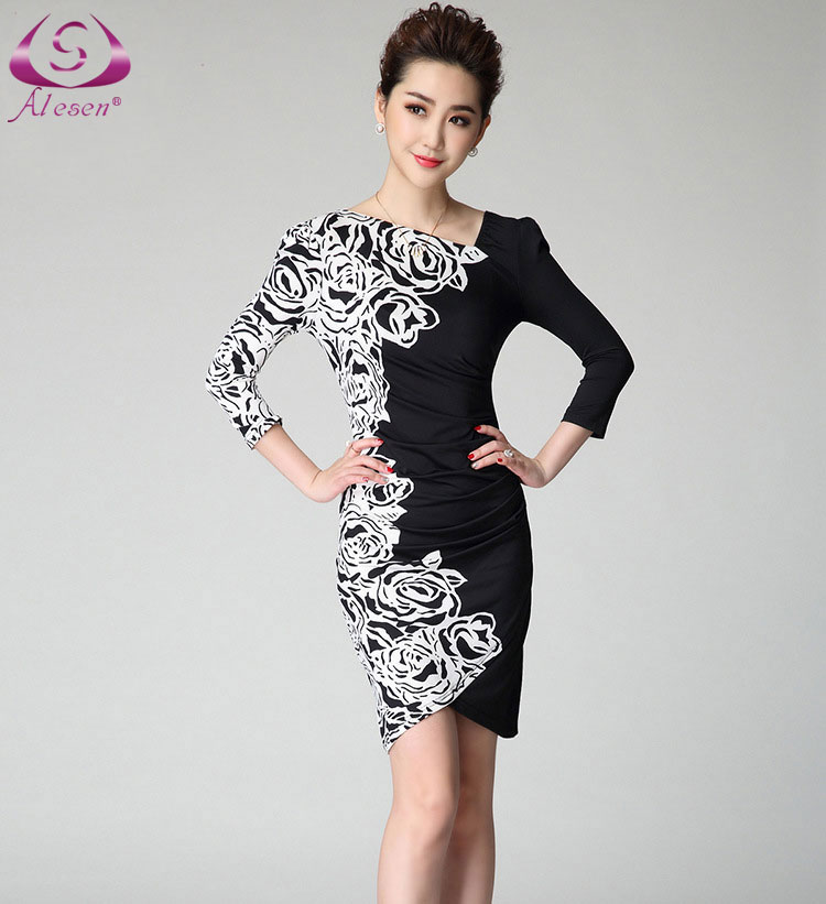 Wonderful 2016 New Design Women Sexy Bodycon Dress Print Dress Fashion Women