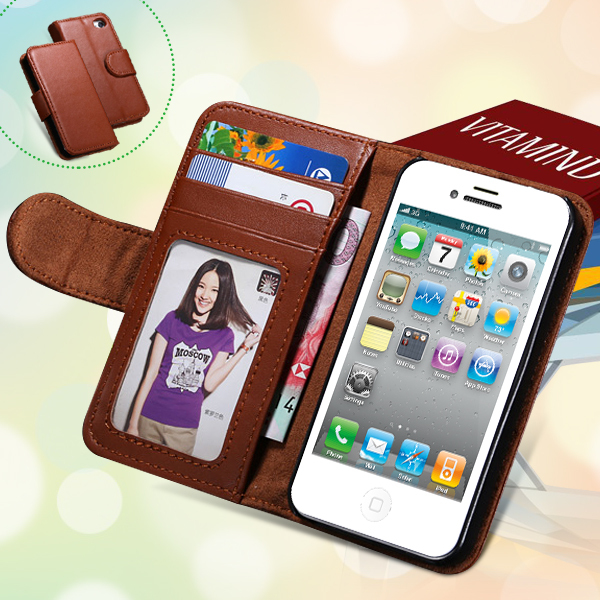 Wallet Holster Style High Quality Plain Skin PU Leather Cell Phone Cover Case For Apple iPhone 5C With Photo Frame & Card Slot(China (Mainland))