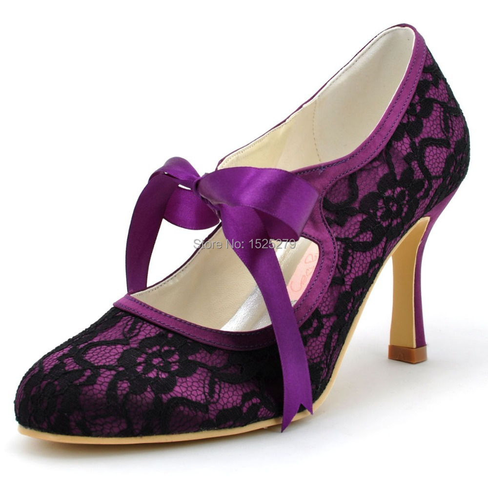 Purple High Heels Pumps