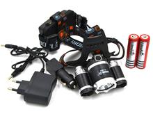 3000 Lumen T6+2R5 Boruit Head Light Headlamp Outdoor Light Head Lamp HeadLight Rechargeable by 2x 18650 Battery Fishing Camping