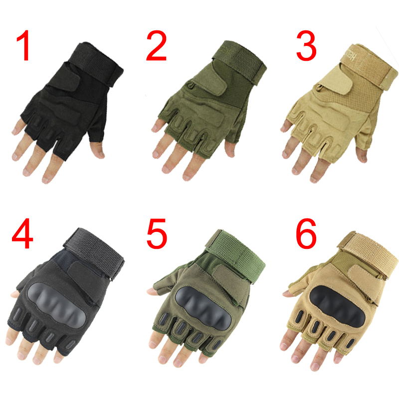 New Blackhawk Hell Storm Tactical Army Outdoor Airsoft Cycling Paintball Motorcycle Assault Hard Knuckle Half Fingerless Gloves(China (Mainland))