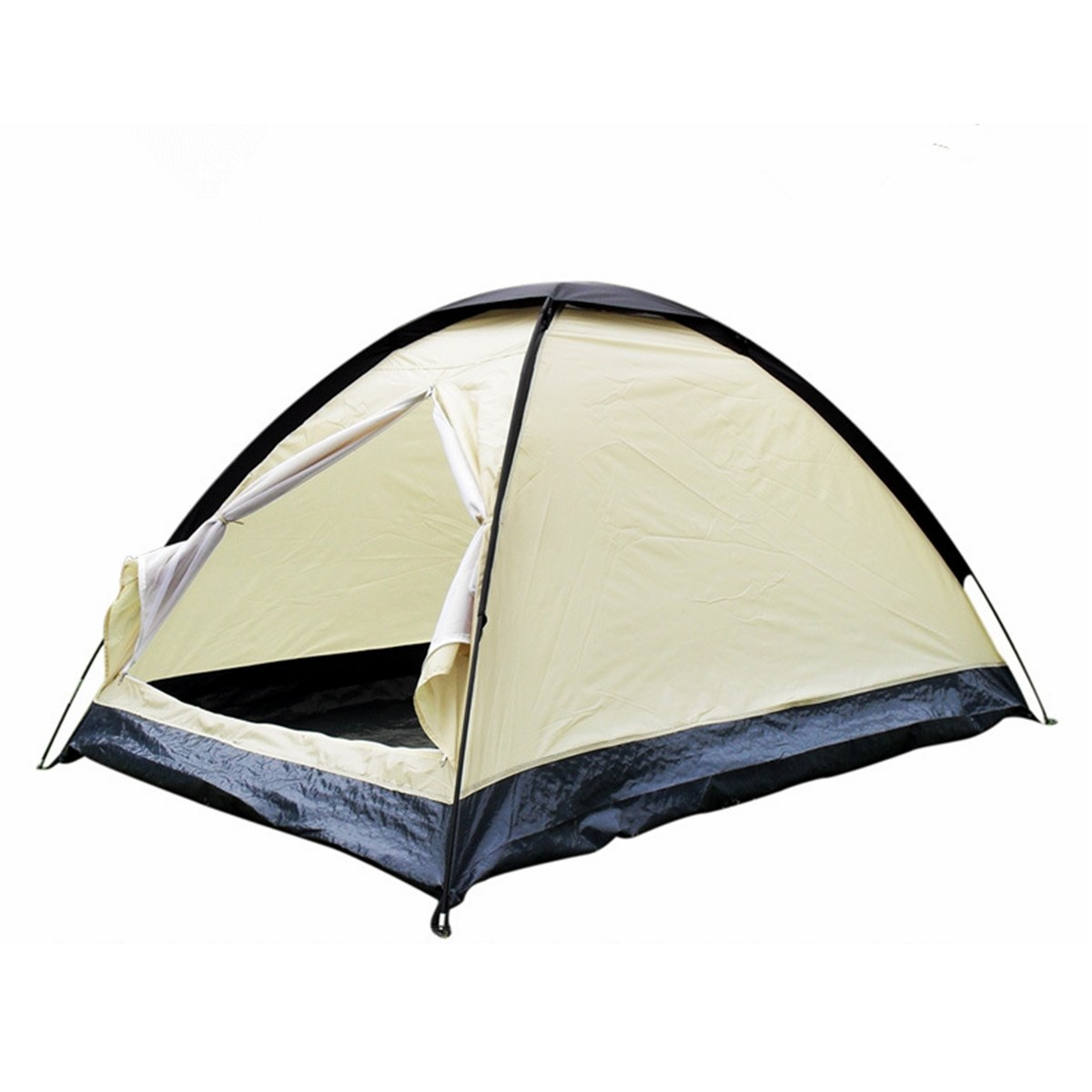 Ultralight Rainproof polyester 2 Person UV Protection Outdoor travel Camping Hiking dome Tent Single Layer beach shelter tent(China (Mainland))
