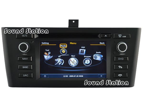 For BMW 1 Series E81 E82 E83 E87 E88 116i 118i Car DVD Radio Stereo GPS Navigation Multimedia Head Unit Autoradio Media Center(China (Mainland))