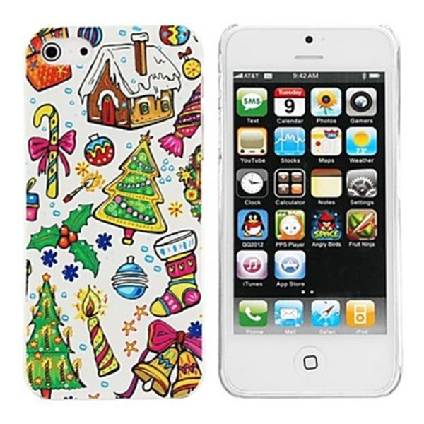 Keywest Elonbo Christmas Customs Design Style Hard Back Case Cover for iPhone 5 5S(China (Mainland))