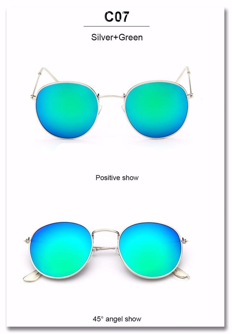 Luxury Brand Design Round Sunglasses Women Men Brand Designer Vintage Retro Mirror Sun Glasses For Women Female Ladies Sunglass (24)
