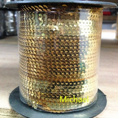 5mm Cup SEQUIN FACET Loose PAILLETTE ~ Metallic BRONZE Premium