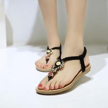 Women Sandals Ankle-Strap Flats Sandals Women Summer Shoes 2016 Sandale Femme Sandals Plus Size 41 42