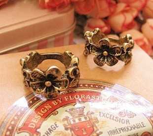 Fashion Jewelry Vintage Bronze Color Daisy Flower Ring s1718