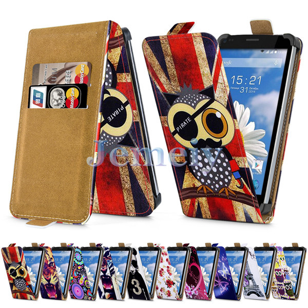 Minion Print Universal Case For Fly IQ4505 ERA Life 7 Quad 5 inch, PU Leather Skin Card Holder Flip Cover Stand Case For IQ 4505(China (Mainland))