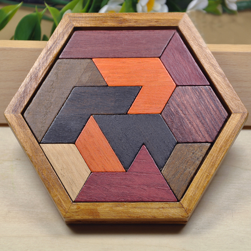 Montessori Educational Wooden Toys Original Wood 3d Wooden Puzzle Baby Toys for Children Kids Early Childhood Preschool Training(China (Mainland))