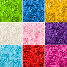 100 * 65M 3D Rose Fabric Blanket Swaddling Baby Newborn Photography Props Backdrops Floral Satin Rosette Fabric 35(China (Mainland))