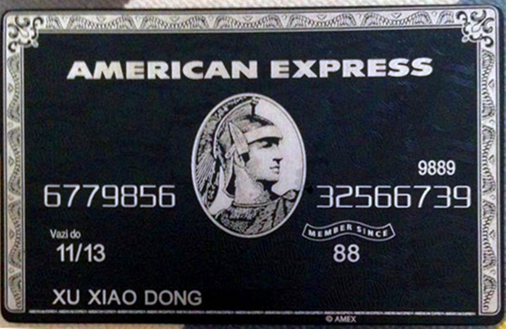 American expressamex black centurion bank card metal for Business centurion card