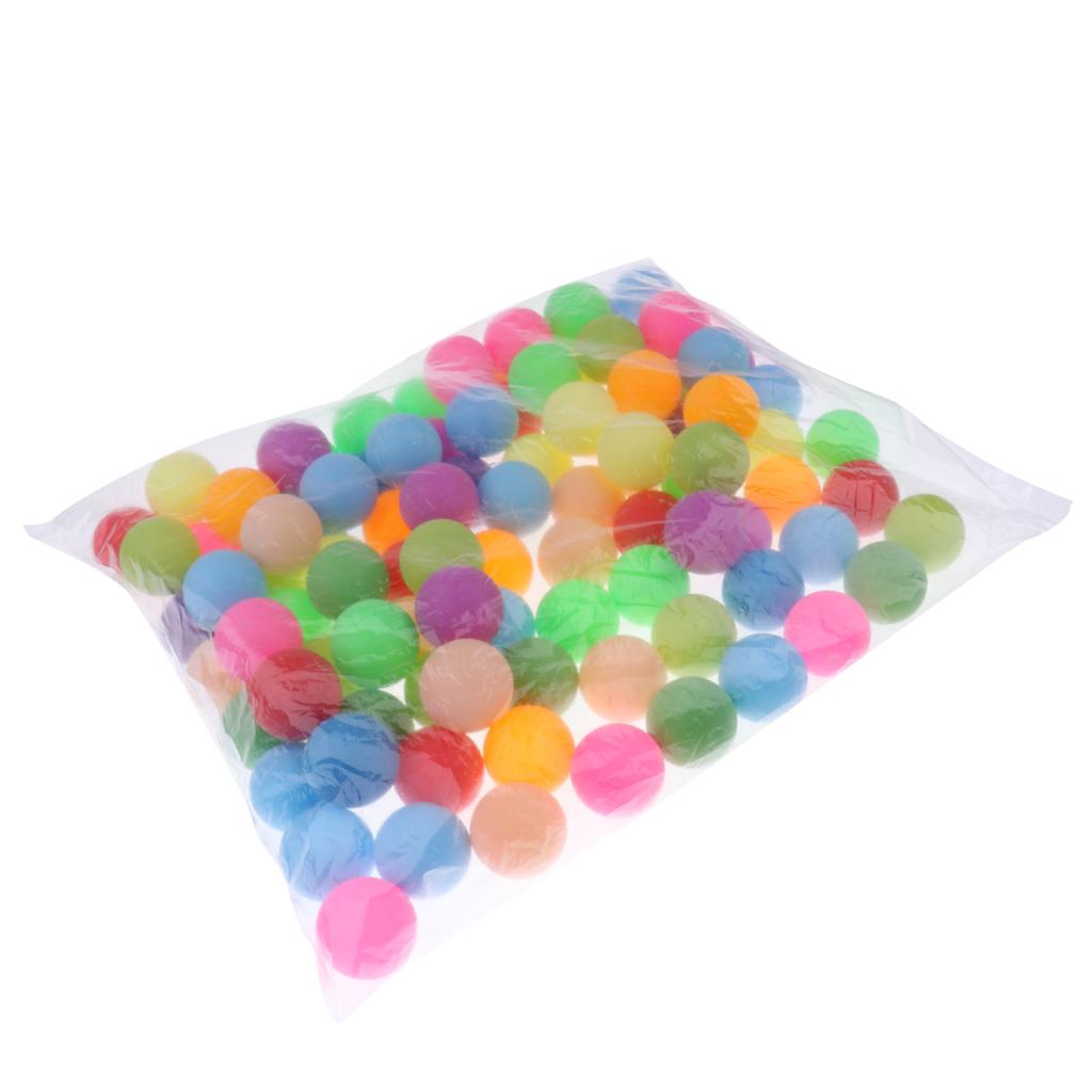 100 шт Разноцветные мячи для настольного тенниса пинг понга шарики кошек