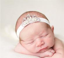 Buy TWDVS Newborn Big Crown Headband Kids Elastic Hair Band Crown Hair Accessories W018 for $1.20 in AliExpress store