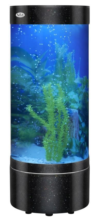 Ecological cylindrical wall fish tank aquarium fish tank for Cylindrical fish tank