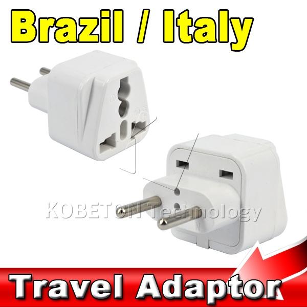 AK Portable Wall Charger EU AU US UK to Brazil Italy Plug Universal 2 Pin Round Household Travel Adapter AC Power Plug Converter(China (Mainland))