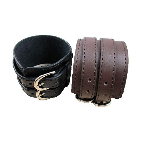 made wide leather belt bracelet bangles fashion