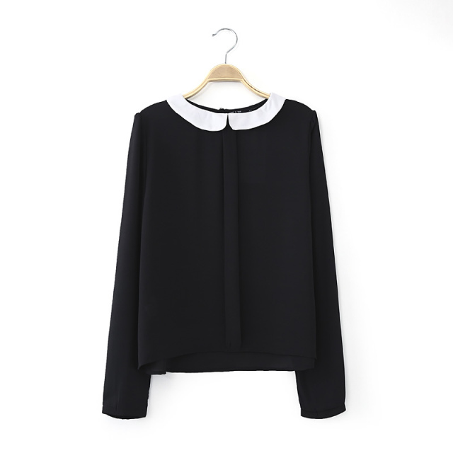 Black Collared Blouse | Fashion Ql