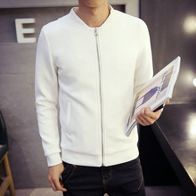 Men Solid Fashion Jackets Male Stand Collar Coat Autumn Spring Casual Baseball Jackets Slim Full Length Casual Clothes Hot top