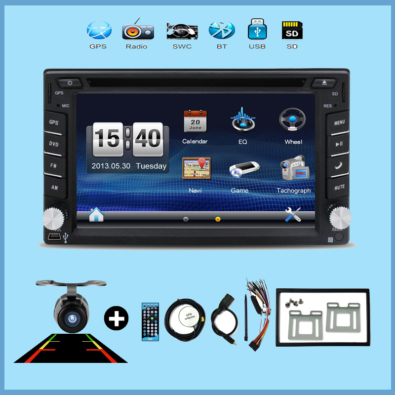 Universal Car Radio Double 2 din Car DVD Player GPS Navigation In dash Car PC Stereo Head Unit video+Free Map+Free Cad(China (Mainland))