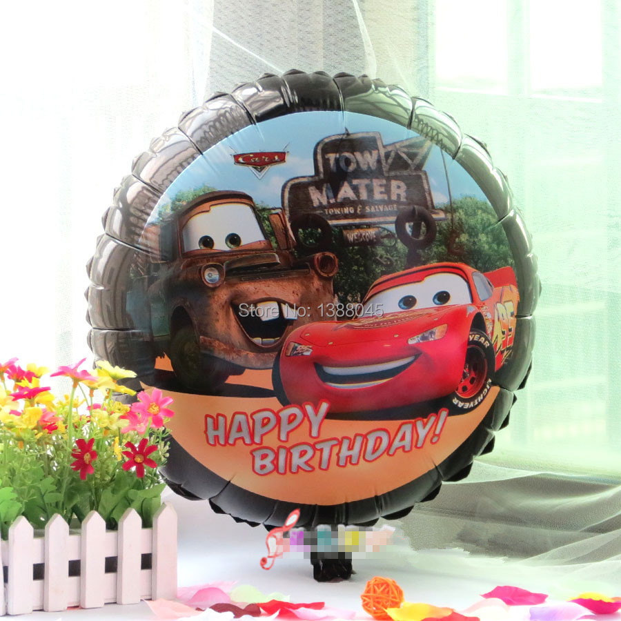 New 18 inchCartoon Cars Aluminum Foil Balloons Happy Birthday Party Supplies Inflatable Classic Toys globos(China (Mainland))