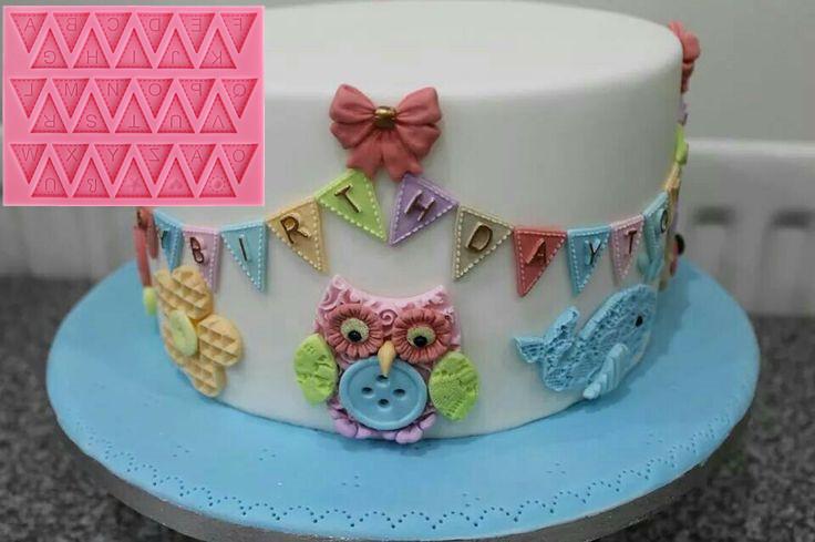 Buy fondant cake silicone molds english for Alphabet blocks cake decoration
