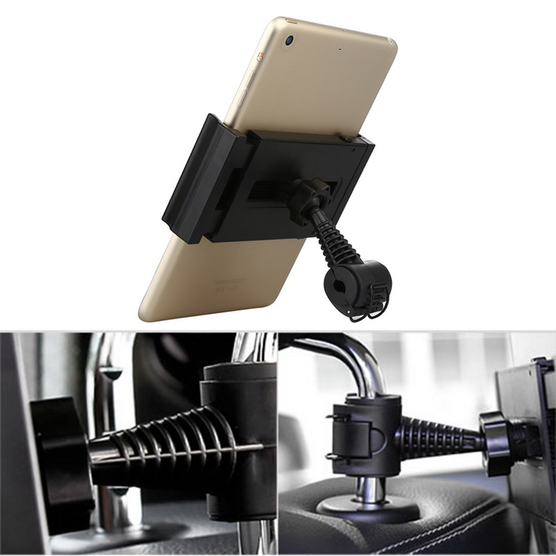 R1B1 360 Degree Car Back Seat Headrest Mount Holder for Phone Tablet PC iPad Tablet Vehicle Headrest Car Seat Tablet Holder(China (Mainland))