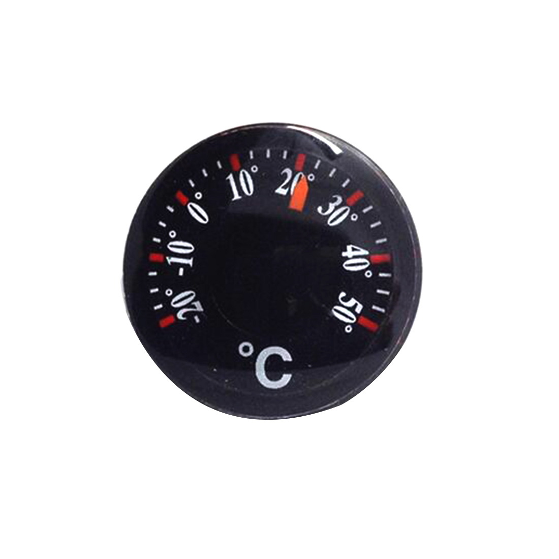 1pcs High Quality Diameter 20mm Plastic Round Mini Thermometer mini spirit Circular Thermograph Celsius hydro thermograph