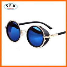 SEA STEAMPUNK Retro COATING mens vintage round SUNGLASSES Men women brand designer gafas OCULOS de sol