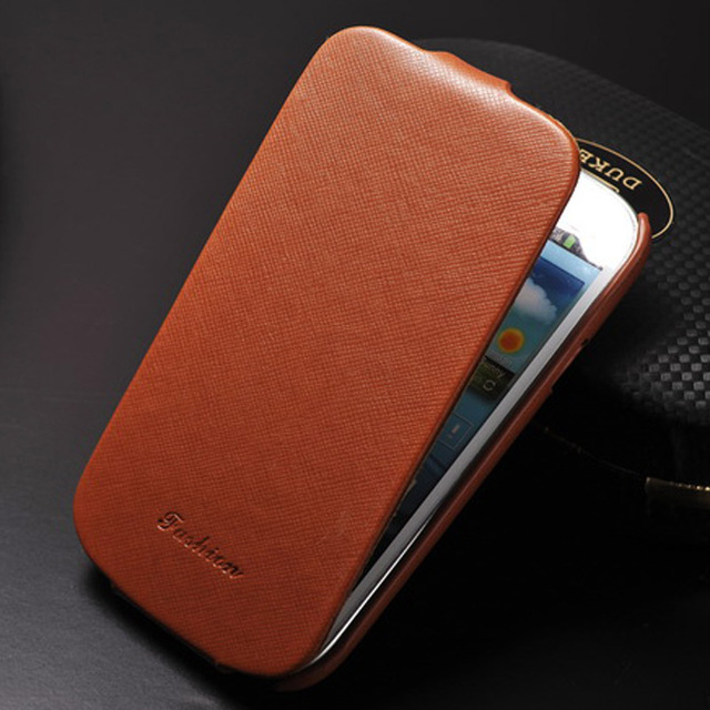 Vintage S3 Flip PU Leather Cover Case For Samsung Galaxy S3 i9300 S 3 SIII Phone Bag Cover Coque Fashion Original Logo