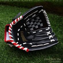 Men baseball gloves pitcher's glove 12.5inch left hand PVC High quality black baseball gloves softball hard ball gloves(China (Mainland))