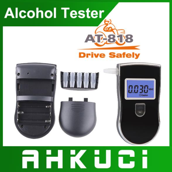 Crazy Promotion!!! 50pcs new patent portable digital mini breath alcohol tester wholesales a breathalyzer test with 5 mouthpiece(China (Mainland))