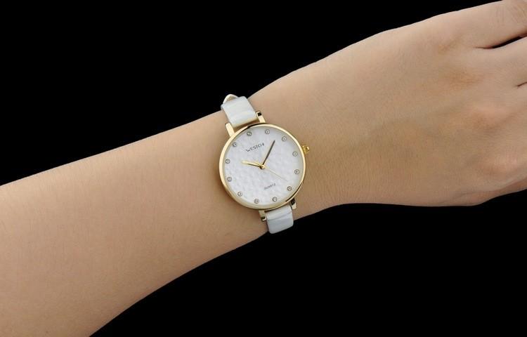 2016 новый дизайн Luxury brand WHESCHI натуральная кожа женщины смотреть световой часы кожа повседневная drees часы