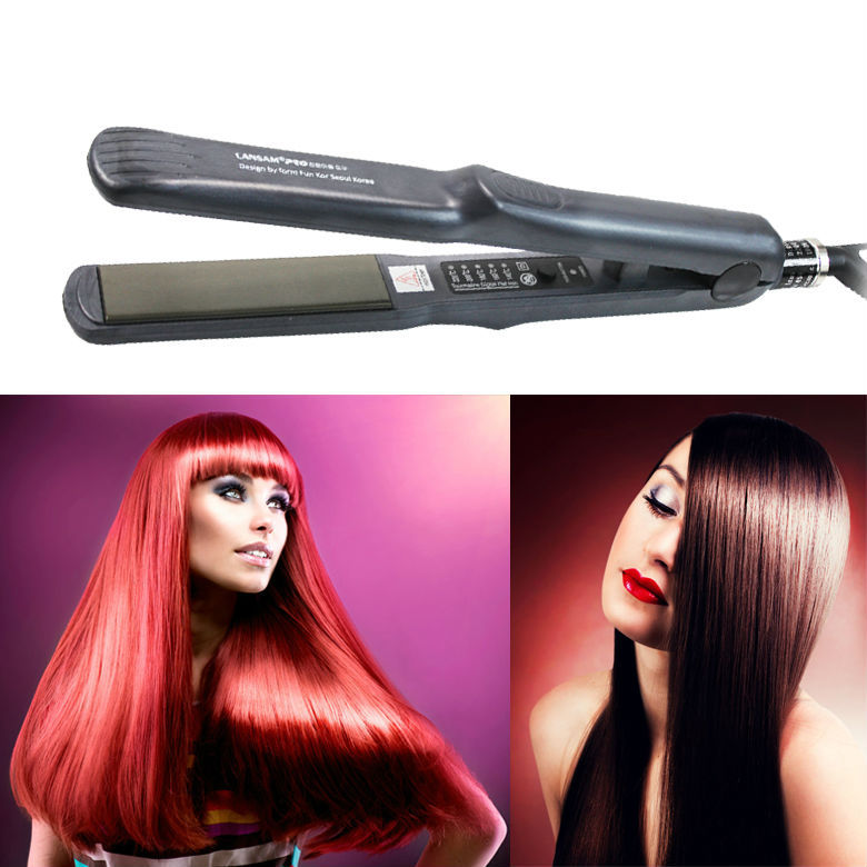 New As seen as TV products Nano titanium heating rods hair straightener with 5 thermostatic straighter tools Hair straightener(China (Mainland))