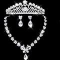 2016 Women Dress Accessories Wedding African Beads 925 Sterling Jewelry Sets Austrian Flower Necklace Earrings Wedding