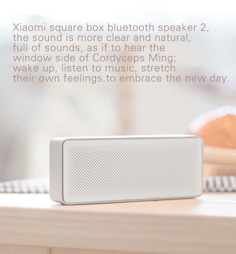 Original Xiaomi Bluetooth Speaker 2 Square Box Portable  Mini  Stereo Bass Speaker bluetooth V4.2 for iPhone for Android phone  (7)