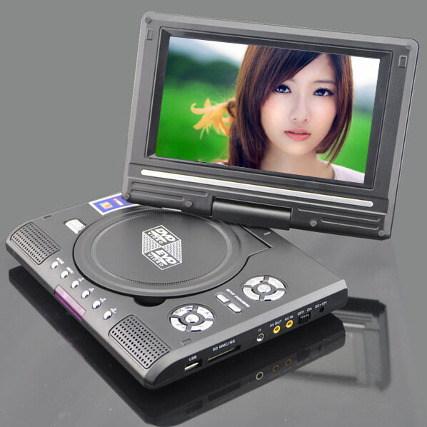 7.8 Inch Portable DVD Player with 7 Inch TFT-LCD Display Screen 270 Rotating Game TV USB & SD Card Slots VCD CD MP3 Play(China (Mainland))