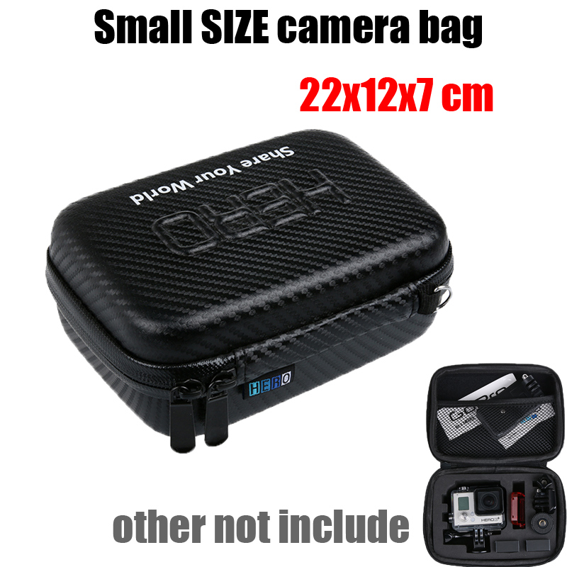 Hot 22*12*7 Hard waterproof Case Box Camera HERO bag for Gopro Go Pro Hero4 3+ 3 SJCAM sj4000 sj6000 sj7000 camera accessories(China (Mainland))