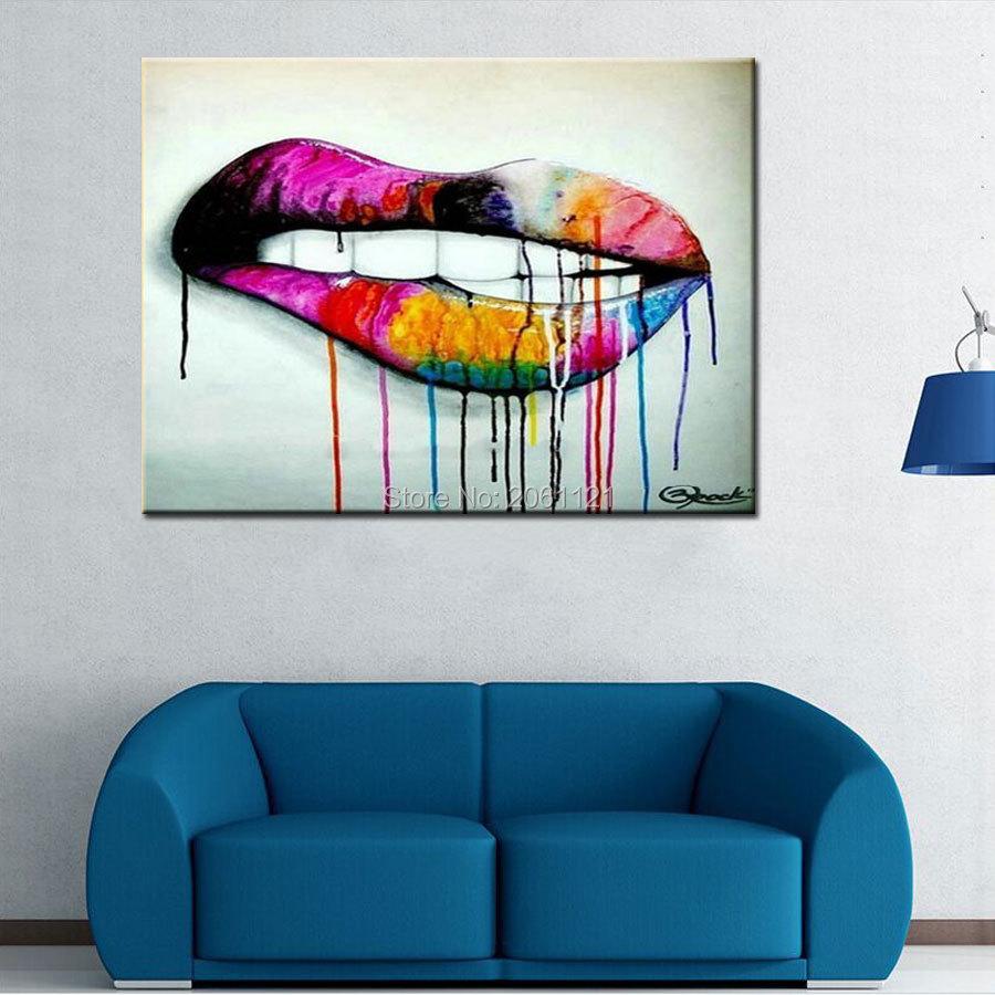Online kopen wholesale lippen schilderijen uit china lippen schilderijen groothandel - Idee schilderij living ...